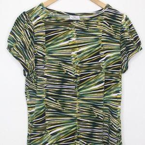 Soft Green Pattern Shirt (Petite PL)